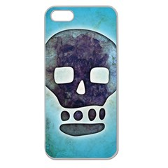 Textured Skull Apple Seamless Iphone 5 Case (clear)