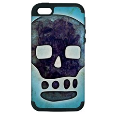 Textured Skull Apple Iphone 5 Hardshell Case (pc+silicone)