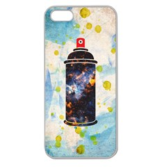 Spray Paint Apple Seamless Iphone 5 Case (clear) by Contest1775858
