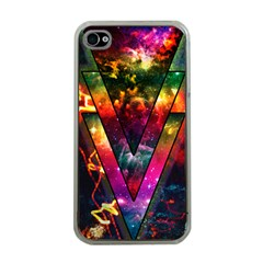 Triangles Apple iPhone 4 Case (Clear) by Contest1775858