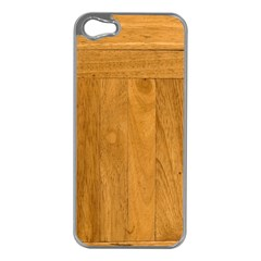 Wood Design Apple Iphone 5 Case (silver) by Contest1775858