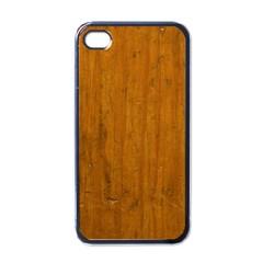 Dark Wood Apple Iphone 4 Case (black)