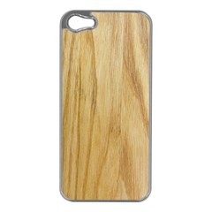 Light Wood Apple Iphone 5 Case (silver)