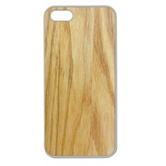 Light Wood Apple Seamless Iphone 5 Case (clear)