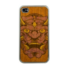 Demon Apple Iphone 4 Case (clear) by Contest1775858