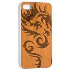 Tribal Dragon Apple Iphone 4/4s Seamless Case (white)