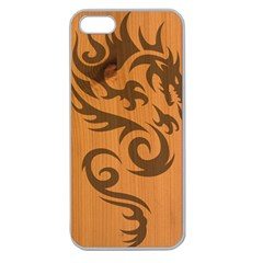 Tribal Dragon Apple Seamless Iphone 5 Case (clear)