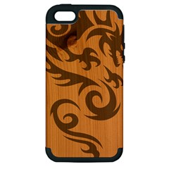 Tribal Dragon Apple Iphone 5 Hardshell Case (pc+silicone)