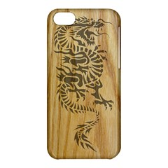 Tribal Dragon On Wood Apple Iphone 5c Hardshell Case by Contest1775858