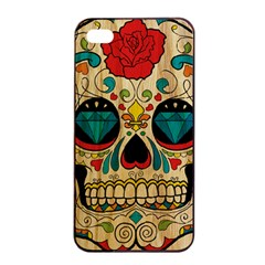 Sugar Skull Apple Iphone 4/4s Seamless Case (black)