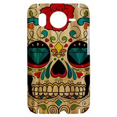 Sugar Skull HTC Desire HD Hardshell Case  by Contest1775858