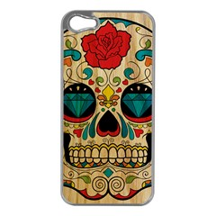 Sugar Skull Apple Iphone 5 Case (silver) by Contest1775858