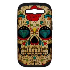Sugar Skull Samsung Galaxy S Iii Hardshell Case (pc+silicone) by Contest1775858