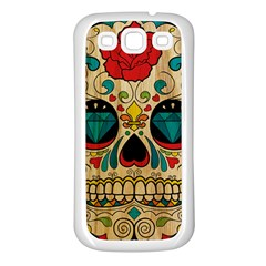 Sugar Skull Samsung Galaxy S3 Back Case (white)