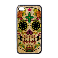Sugar Skull Apple iPhone 4 Case (Black) by Contest1775858