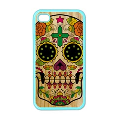 Sugar Skull Apple Iphone 4 Case (color) by Contest1775858