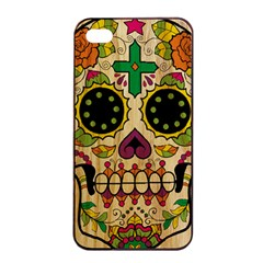 Sugar Skull Apple Iphone 4/4s Seamless Case (black) by Contest1775858