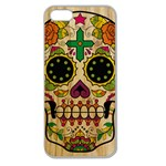 Sugar Skull Apple Seamless iPhone 5 Case (Clear) Front