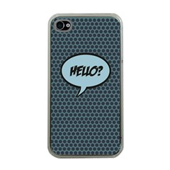 Hello Apple Iphone 4 Case (clear) by PaolAllen2