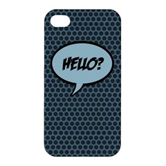 Hello Apple Iphone 4/4s Hardshell Case by PaolAllen2