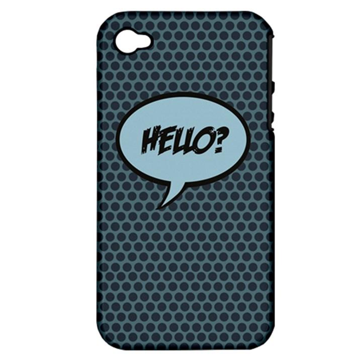 Hello Apple iPhone 4/4S Hardshell Case (PC+Silicone)