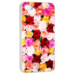 Stop & Smell The Iphone Apple Iphone 4/4s Seamless Case (white) by TheTalkingDead
