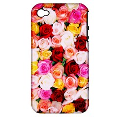 Stop & Smell The Iphone Apple Iphone 4/4s Hardshell Case (pc+silicone)