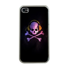 Rock Out With Your Skull Out    Apple Iphone 4 Case (clear) by TheTalkingDead
