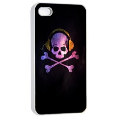 Rock Out With Your Skull Out    Apple Iphone 4/4s Seamless Case (white) by TheTalkingDead