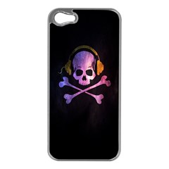 Rock Out With Your Skull Out    Apple Iphone 5 Case (silver) by TheTalkingDead