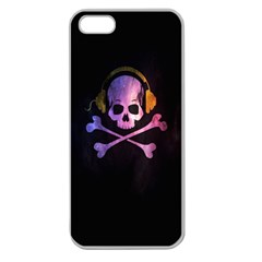 Rock out with your Skull out... Apple Seamless iPhone 5 Case (Clear) by TheTalkingDead