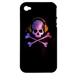 Rock out with your Skull out... Apple iPhone 4/4S Hardshell Case (PC+Silicone) by TheTalkingDead