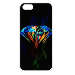 Diamonds Are Forever  Apple Iphone 5 Seamless Case (white) by TheTalkingDead