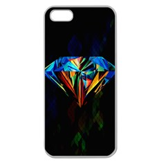 Diamonds Are Forever  Apple Seamless Iphone 5 Case (clear) by TheTalkingDead