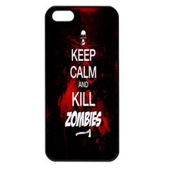 Keep Calm & Kill Zombies Apple Iphone 5 Seamless Case (black)