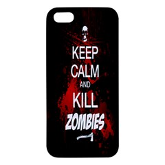Keep Calm & Kill Zombies Iphone 5 Premium Hardshell Case