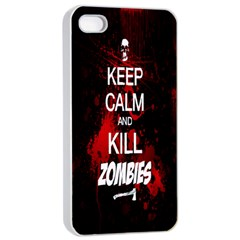 Keep Calm & Kill Zombies Apple Iphone 4/4s Seamless Case (white) by TheTalkingDead