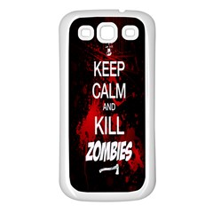 Keep Calm & Kill Zombies Samsung Galaxy S3 Back Case (white)