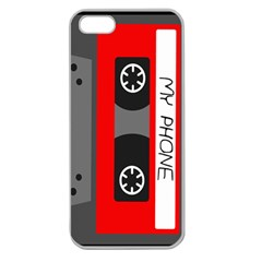 Cassette Phone Apple Seamless Iphone 5 Case (clear) by TheTalkingDead