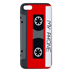 Cassette Phone Iphone 5 Premium Hardshell Case by TheTalkingDead