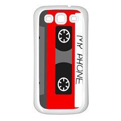 Cassette Phone Samsung Galaxy S3 Back Case (white)