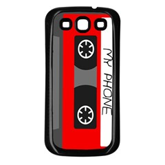 Cassette Phone Samsung Galaxy S3 Back Case (black) by TheTalkingDead