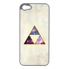 Cosmic Triangles Apple iPhone 5 Case (Silver) by Contest1775858