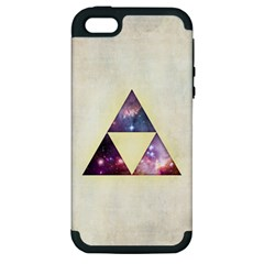 Cosmic Triangles Apple Iphone 5 Hardshell Case (pc+silicone)