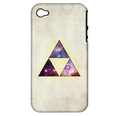 Cosmic Triangles Apple Iphone 4/4s Hardshell Case (pc+silicone) by Contest1775858
