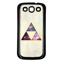 Cosmic Triangles Samsung Galaxy S3 Back Case (black) by Contest1775858
