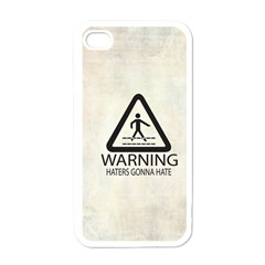 Warning: Haters gonna hate Apple iPhone 4 Case (White) by Contest1775858