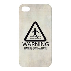Warning: Haters Gonna Hate Apple Iphone 4/4s Hardshell Case by Contest1775858