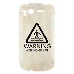 Warning: Haters gonna hate HTC Desire S Hardshell Case by Contest1775858