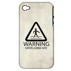 Warning: Haters Gonna Hate Apple Iphone 4/4s Hardshell Case (pc+silicone) by Contest1775858